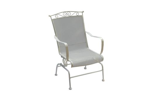 wrought iron chair chairs with speakers backyard creations dining patio in antique ivory at menards
