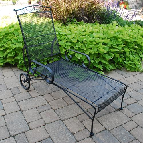 iron chaise lounge chairs herman miller amazon backyard creations wrought patio chair at menards