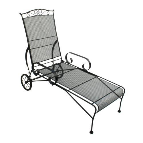 Backyard Creations Wrought Iron Chaise Lounge Patio Chair