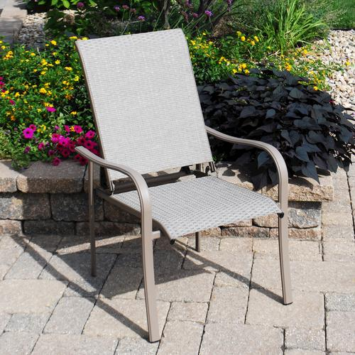 menards patio chairs overstuffed club backyard creations grant park recliner chair at
