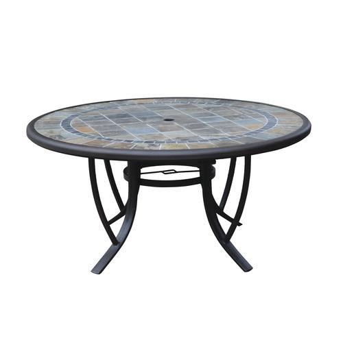 carlisle round dining patio table at