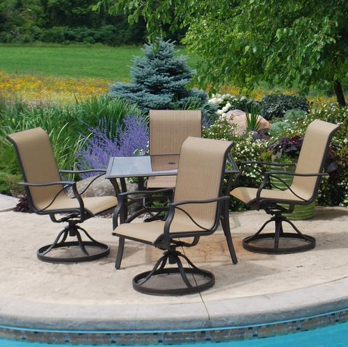 menards patio chairs bedroom chair kmart backyard creations somerset 5 piece dining set at