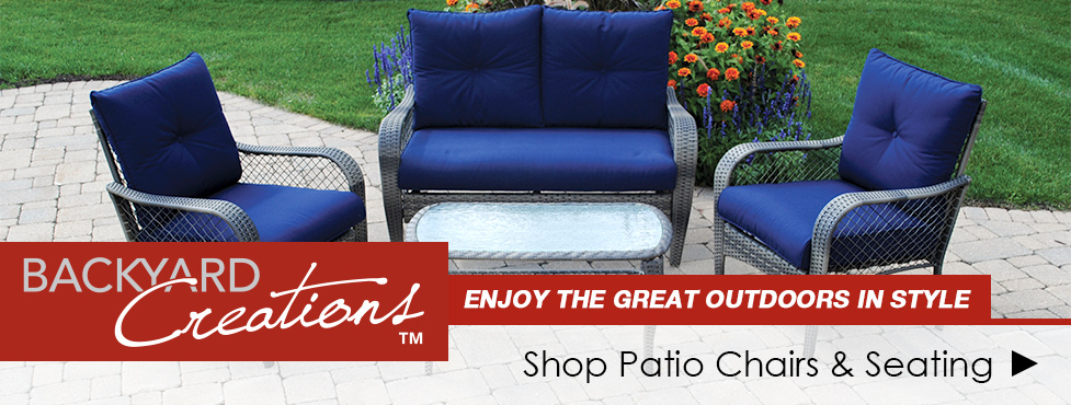 menards patio chairs coleman cooler quad chair backyard creations at