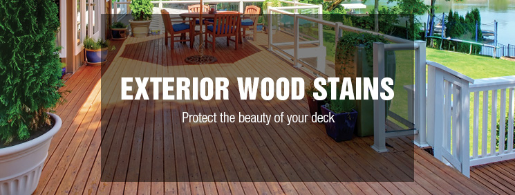 exterior wood stains at