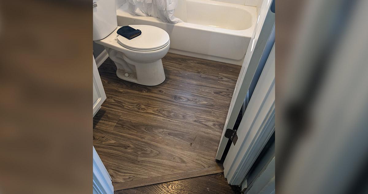 kitchen bathroom floor remodel