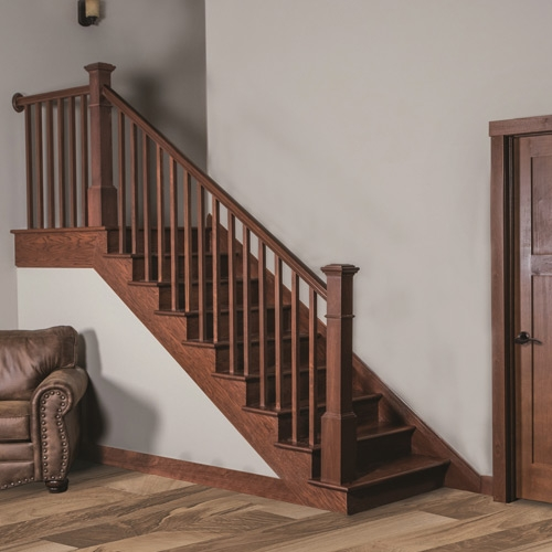 Millwork Staircase Systems Accessories At Menards®   Mission Style Stair Railing   Modern   Metal Picket   Decorative Glass   Staircase   Bannister