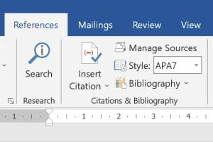 ใส่ Reference โดยใช้ Microsoft Word - FI