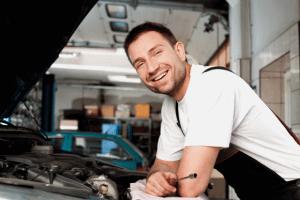 Mechanic Doing Systematic Checks