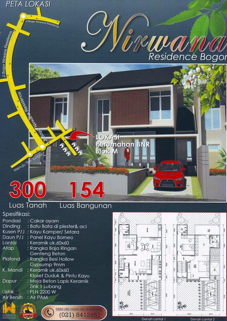 Rumah Dijual  PT Hashimawira Bersaudara Jasa Bangun