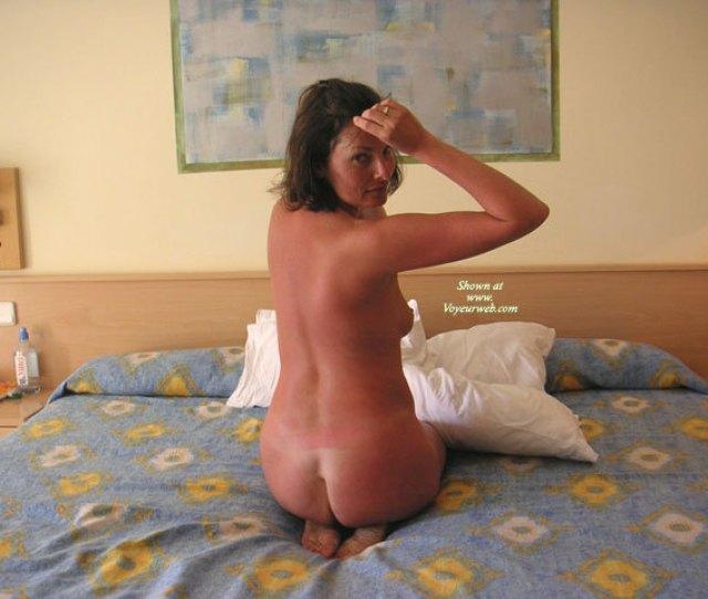 Sunburned Nude Wife On Bed
