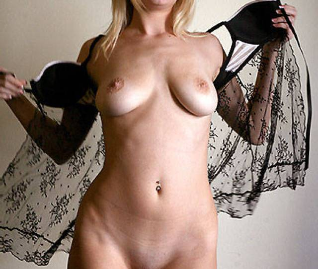 Naked Blonde Wearing Lace