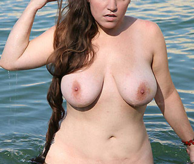 Wet And Busty Brunette