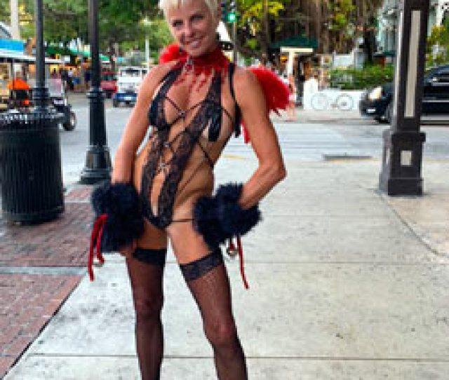 Key West Fantasy Fest  Topless Girls Big Tits Blonde Outdoors