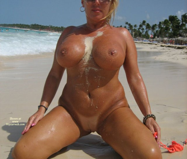 Full Frontal Kneeling Big Tits Blonde Hair Large Breasts Milf Shaved