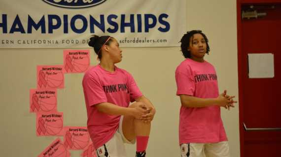 Girls' Basketball holds breast cancer awareness game