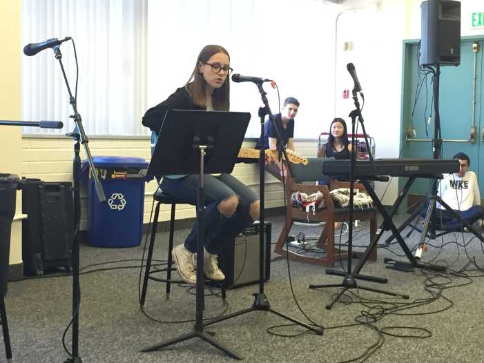 Students perform at February Coffee House