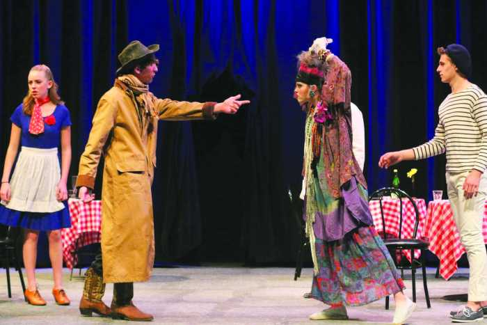 Actors perform play 'The Madwoman of Chaillot'