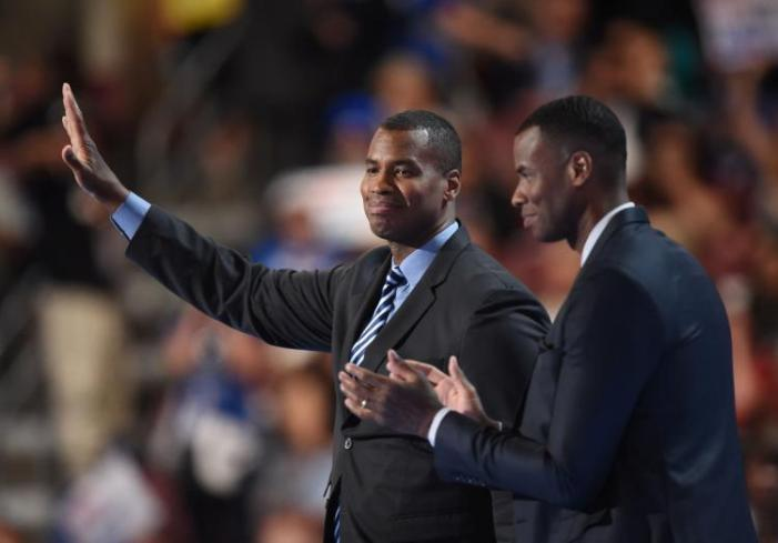 Collins brothers speak in support of Clinton at DNC