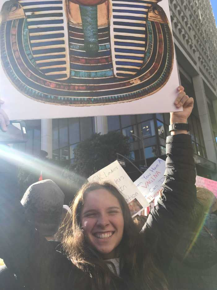 Students, faculty join protest at Women's March