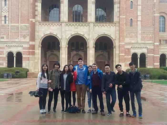 Chinese students experience campus life