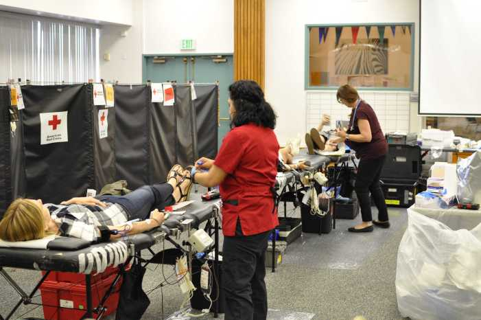 Students, faculty donate in Red Cross Blood Drive