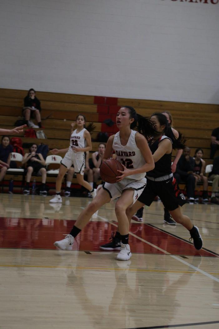 Girls' basketball notches fifth league win