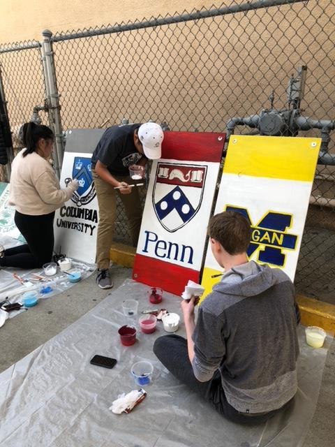 Students volunteer at Bethune Middle School