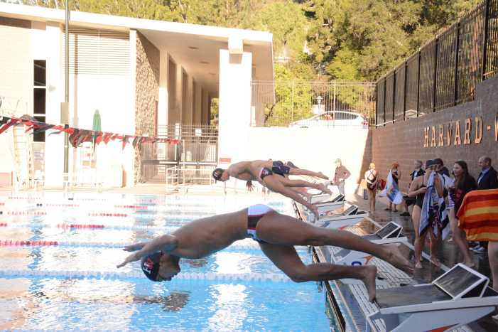 Girls' and Boys' swimming teams beat Chaminade