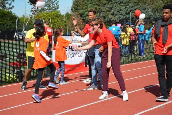 Students volunteer, cheer on athletes at Special Olympics