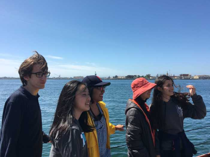 All aboard: English classes go whale watching