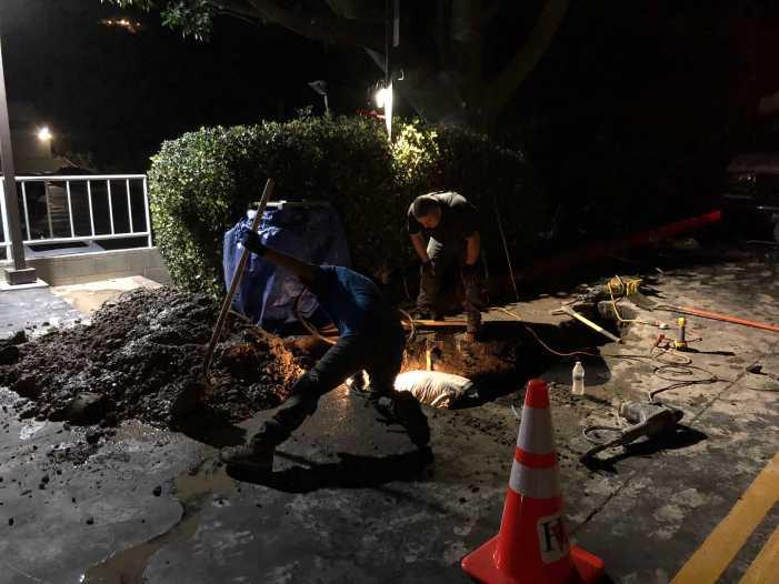 School working to repair underground pipe leak