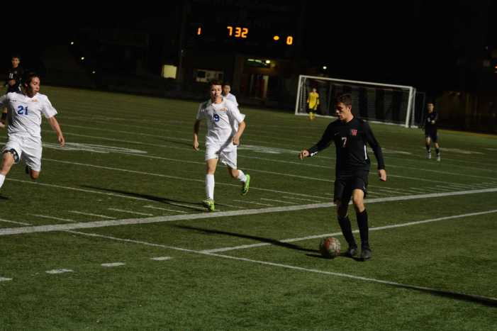 Boys' soccer secures first win of the season