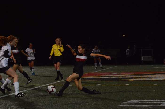 Girls' soccer defeats Notre Dame High School on Senior Night
