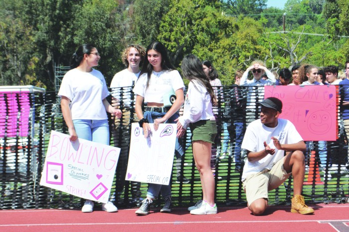 Students welcome Special Olympic athletes