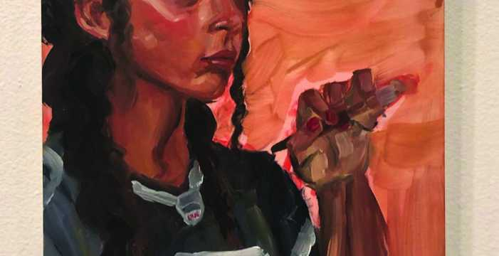 Remi Patton sells her artwork in exhibition