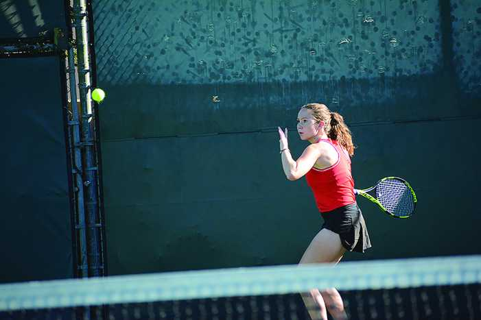 Girls' Tennis advances to CIF Quarterfinals.