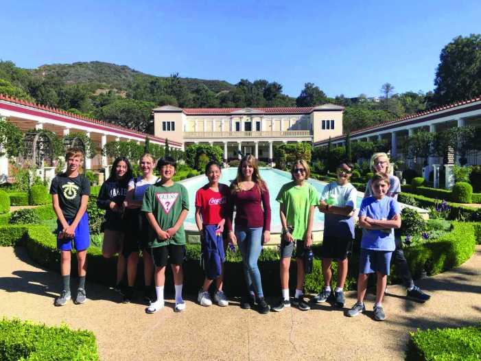 Latin students visit Getty Villa