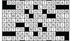 January Crossword Answers