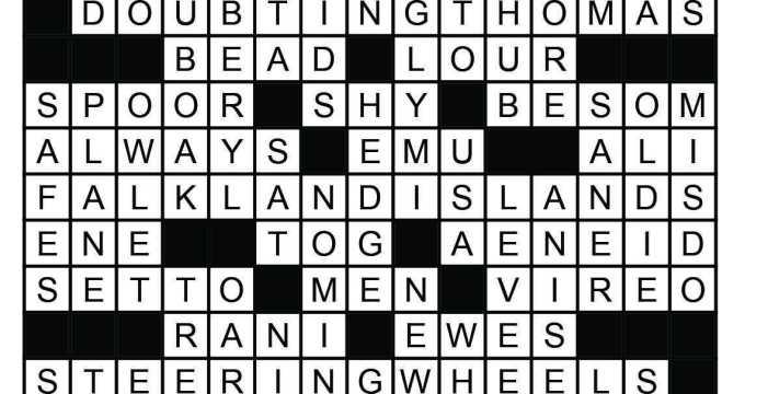 January Crossword Answers
