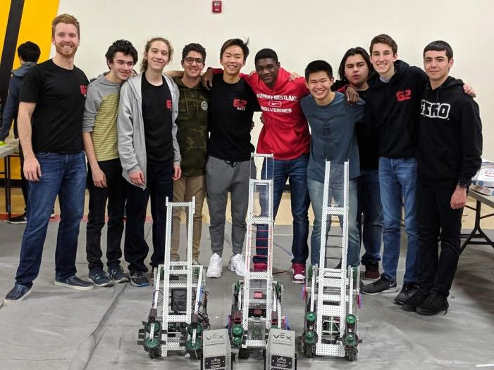 Robotics team 62B wins VEX Robotics Tournament