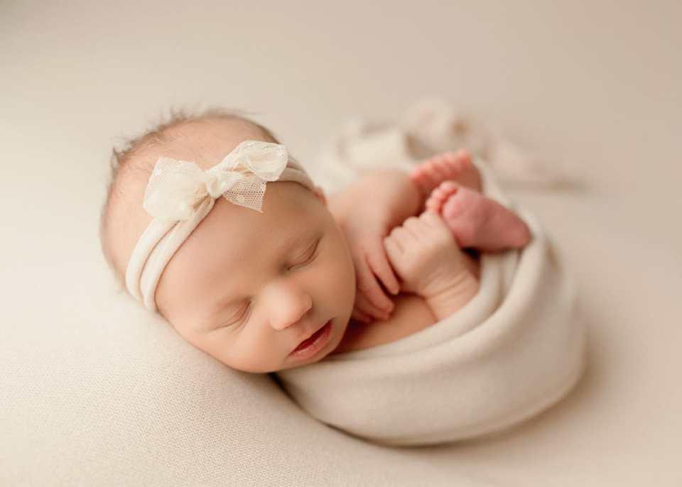 Baby girl Denver newborn photographer