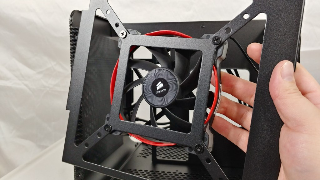 fan attached to mount