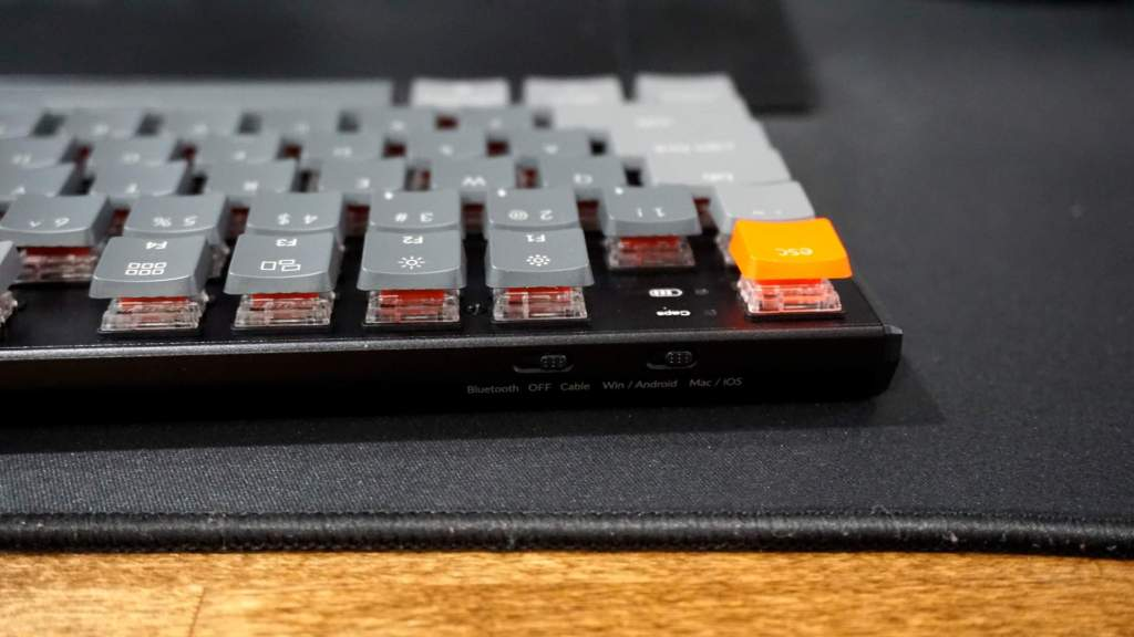 K1 low profile Gateron reds