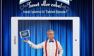 Kullanıcıların #tweettigitti hashtagiyle attıkları her bir tweetle Intel işlemcili tabletlerin fiyatları indikçe inecek.