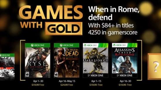 Nisan ayı içerisinde Xbox Gold Live sahiplerine gelecek ücretsiz oyunlar da açıklandı.
