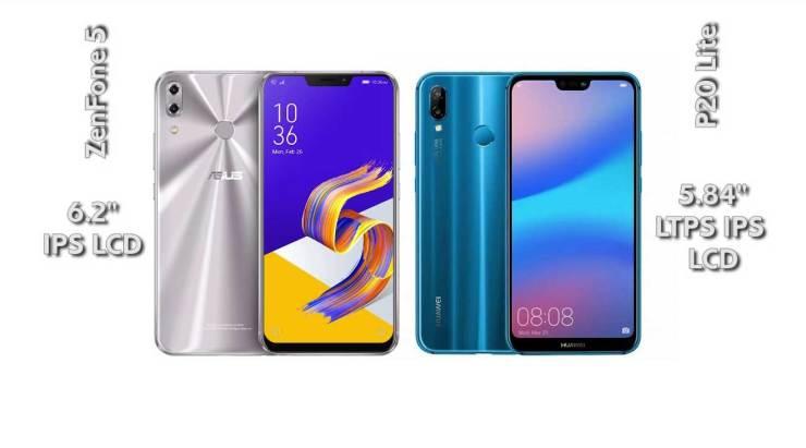 Huawei P20 Lite vs Zenfone 5