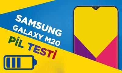Samsung Galaxy M20 - Pil Testi