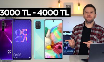 3000 TL 4000 TL arası en iyi telefonlar 2020