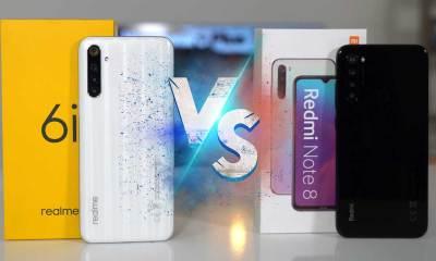 Redmi Note 8 vs Realme 6i karşılaştırma