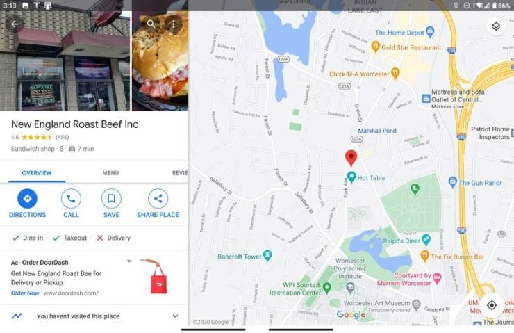 Google Haritalar Surface Duo